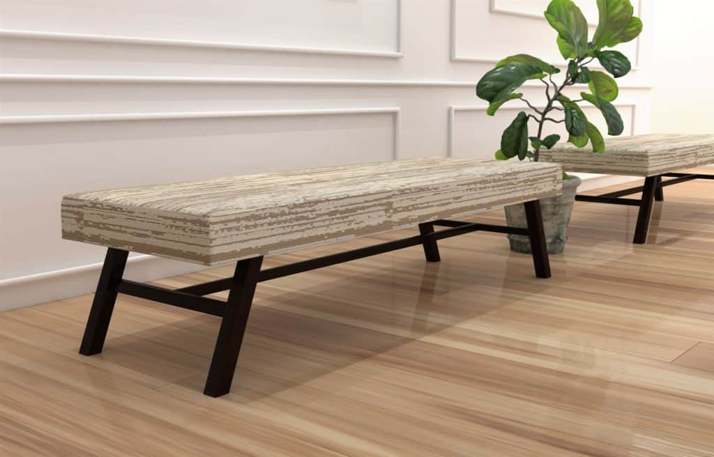 Hickory Contract Evie Upholstered Bench Rcs Innovations